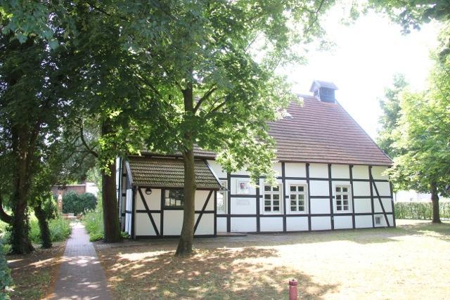 Blick auf das Dorfschulmuseum