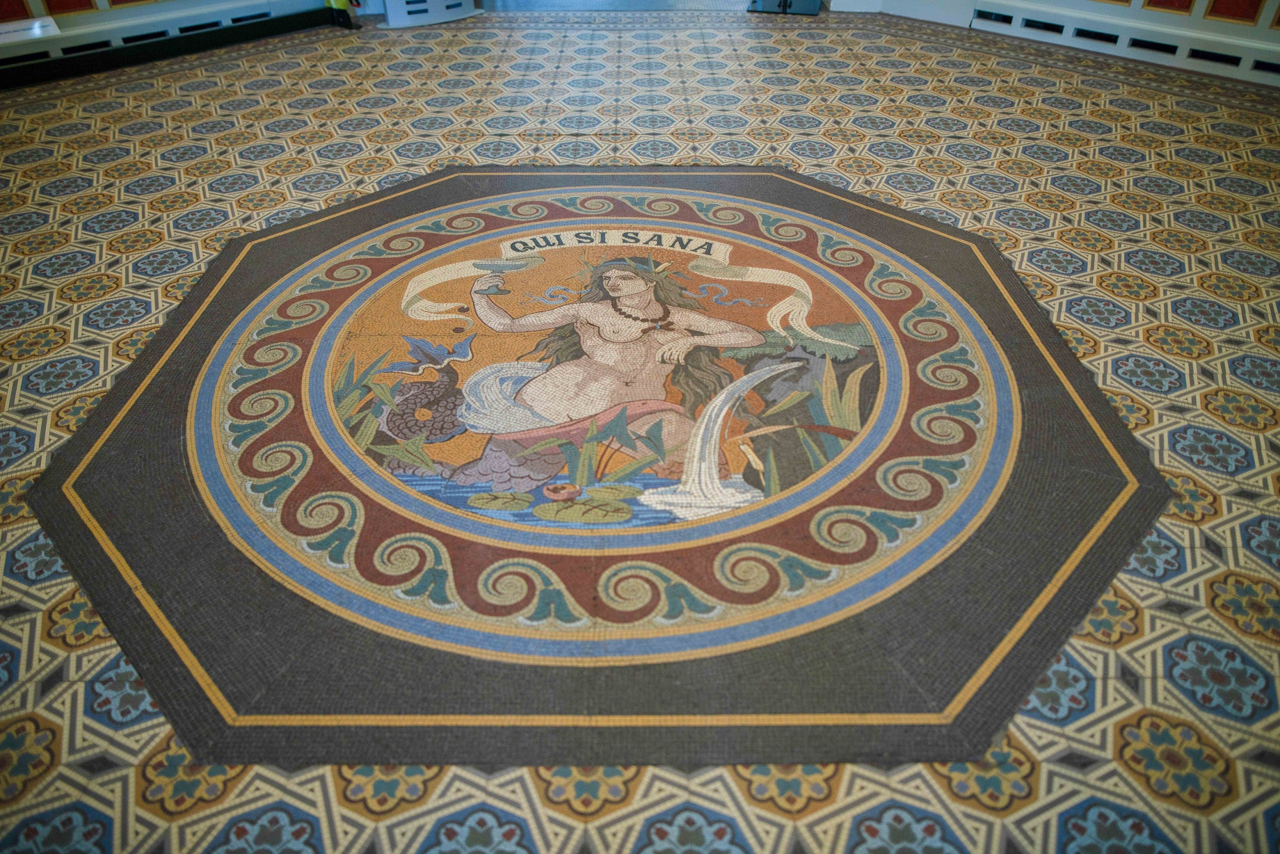 Historischer Fußboden, Badehaus II