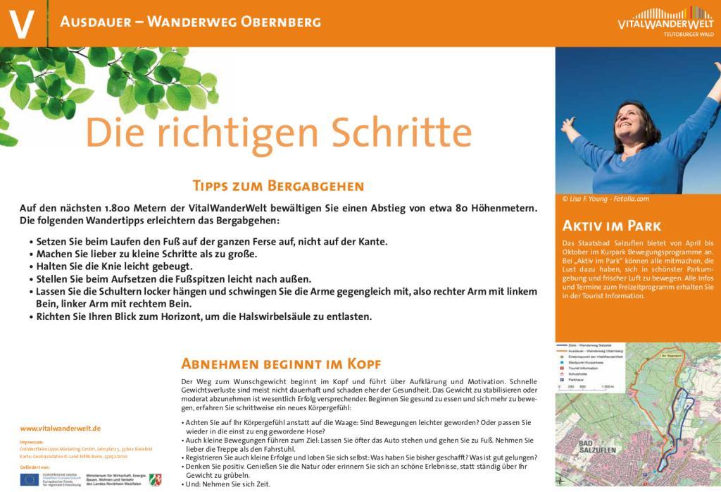 VitalWanderWelt Wanderweg Obernberg - Die richtigen Schritte