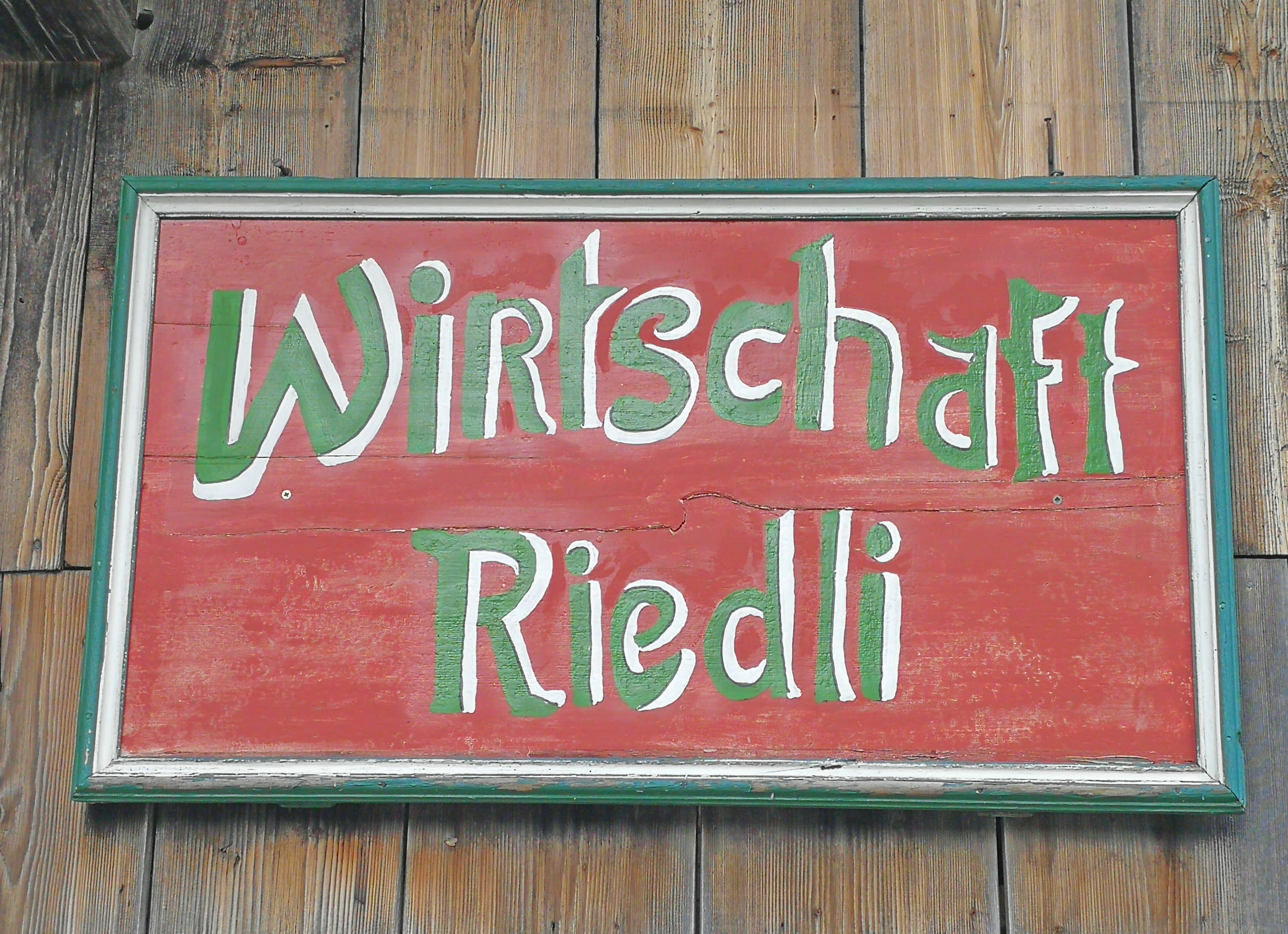 Restaurant Riedli Schild