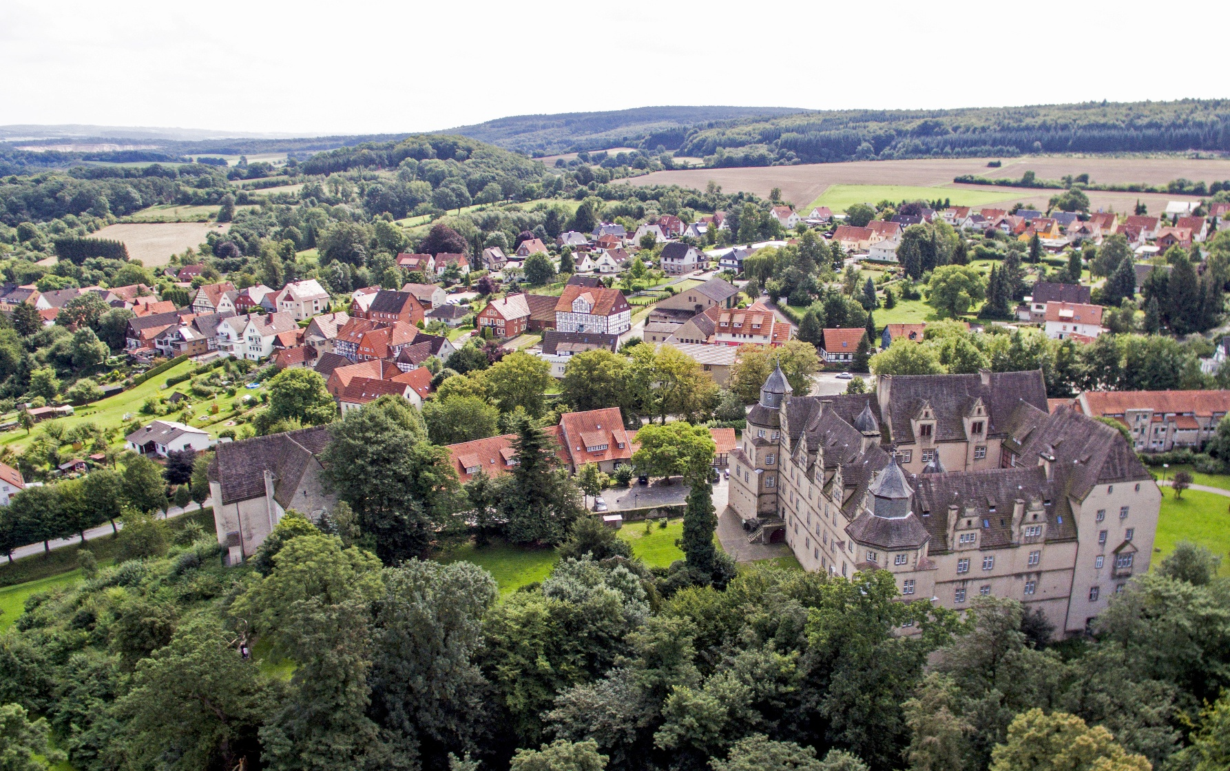 Schloss Varenholz von oben