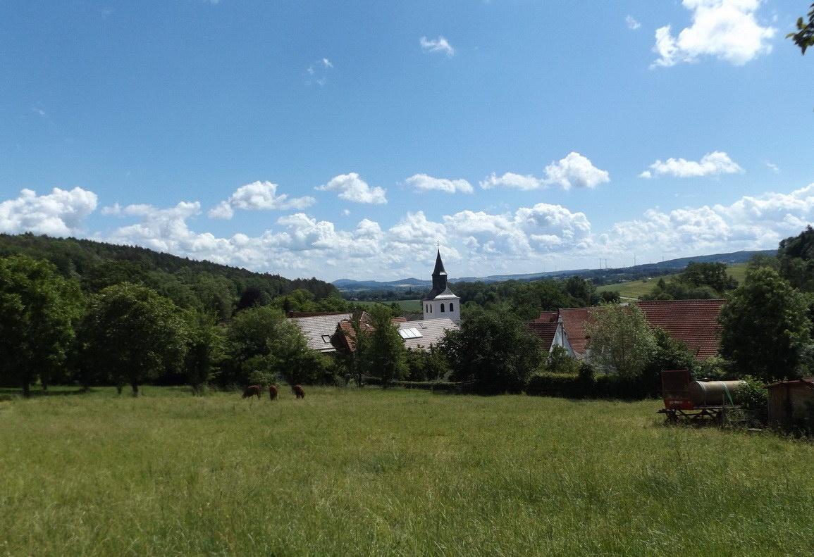 Blick auf Himmighausen