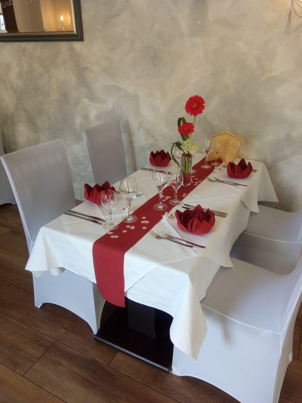 Tisch im Restaurant & Café Am Steinbruch in Hilter