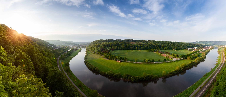 Panoramablick vom Weser-Skywalk