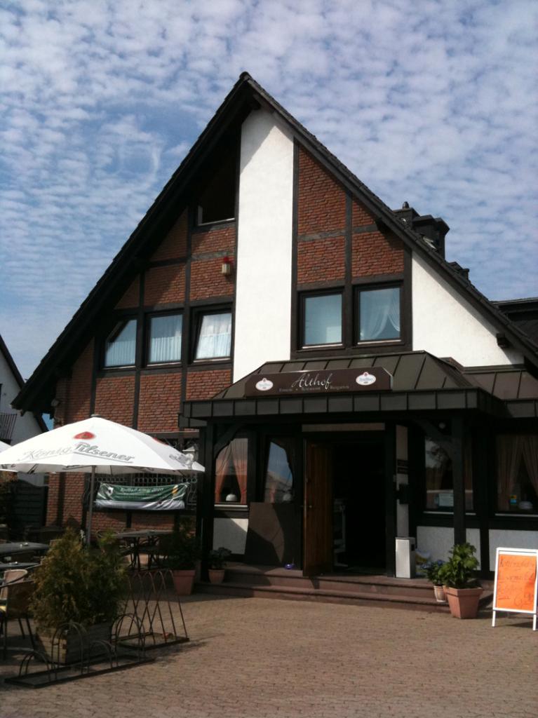 Außenansicht Pension Grillstübchen Althof