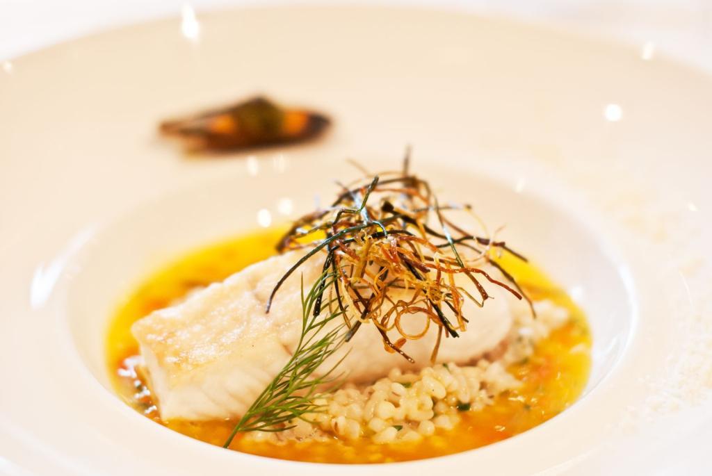 Fischgericht in Zeitlers Hotel, Marsberg