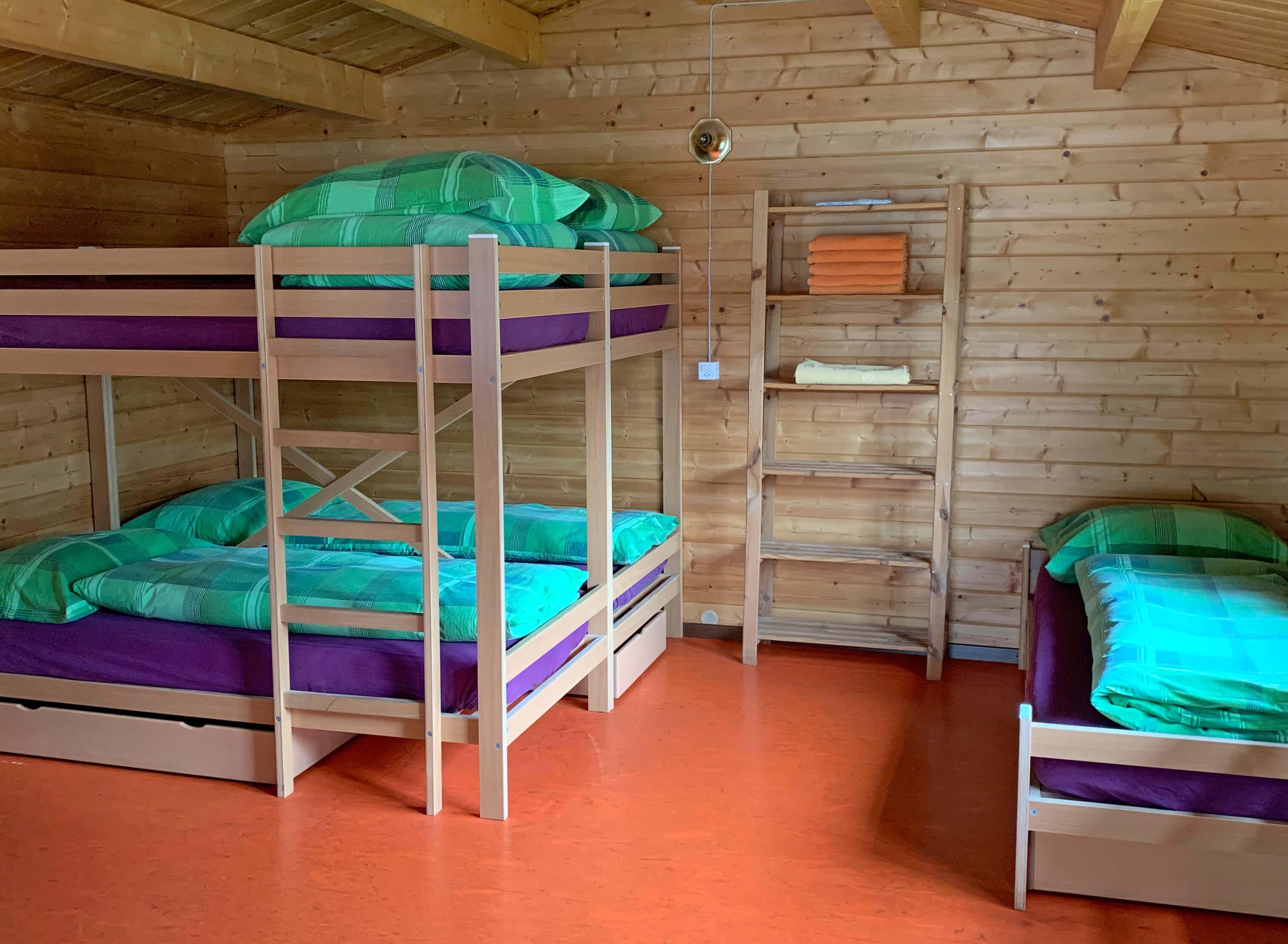 Schlafplätze Bungalow