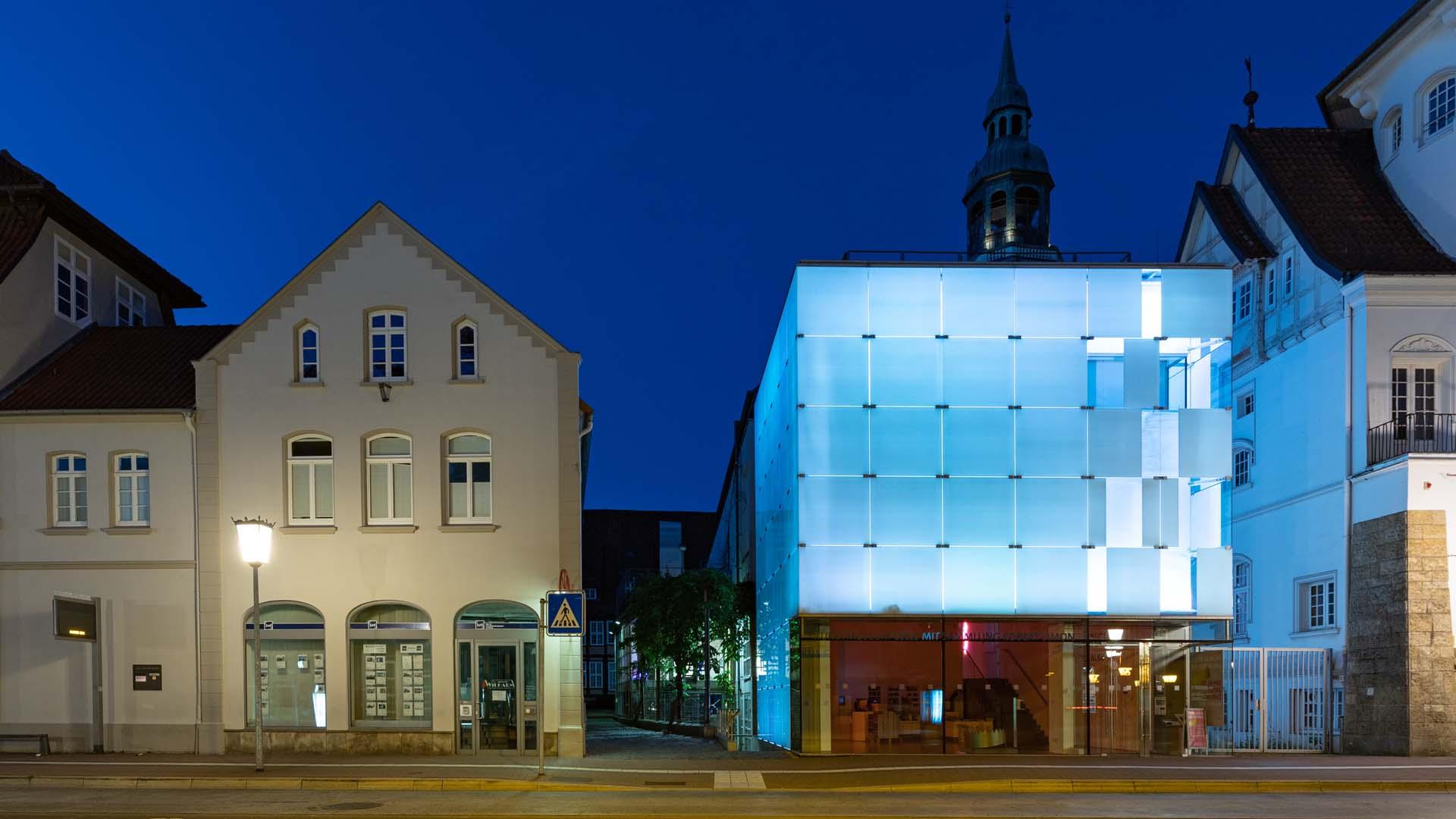 Celler Kunstmuseum am Abend