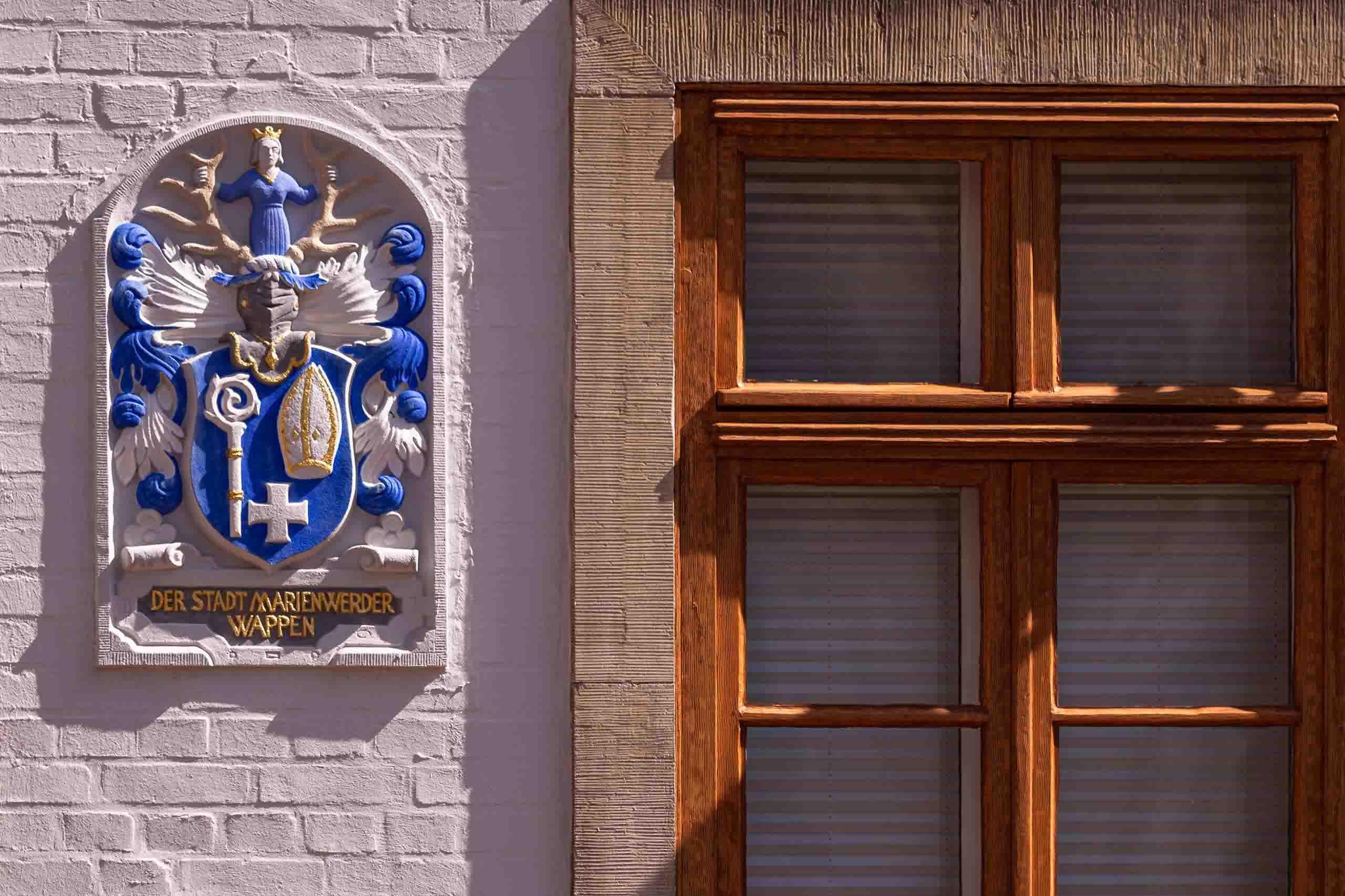 Marienwerder Wappen am Alten Rathaus