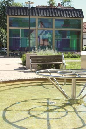 Wassertretbecken bei der Liborius-Trinkhalle