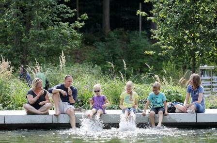 Familienspaß an den Mersmannteichen im Garteschau-Gelände Bad Lippspringe