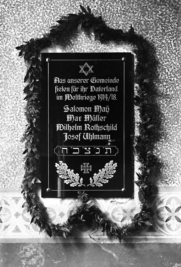 Gedenktafel 1. Weltkrieg