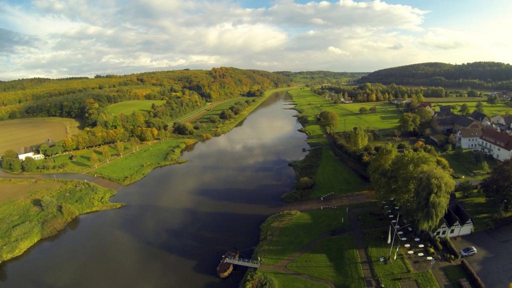 die Weser bei Wehrden Richtung Süden