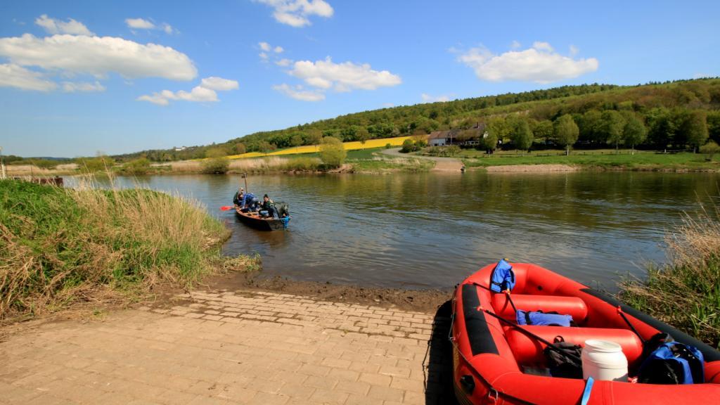 Wehrden Slip Möglichkeit an der Weser