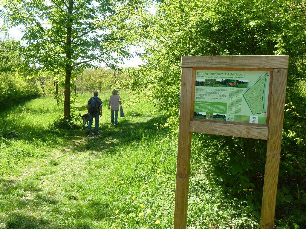 Arboretum Paderborn - Eingang