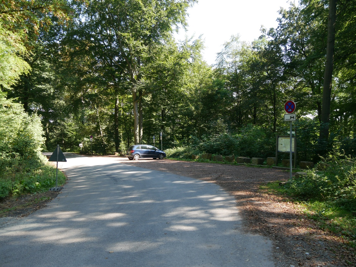 Parkplatz am Weser-Skywalk - Parkplatz ca. 200 Meter entfernt. Insgesamt gibt es 2 Parktplätze.