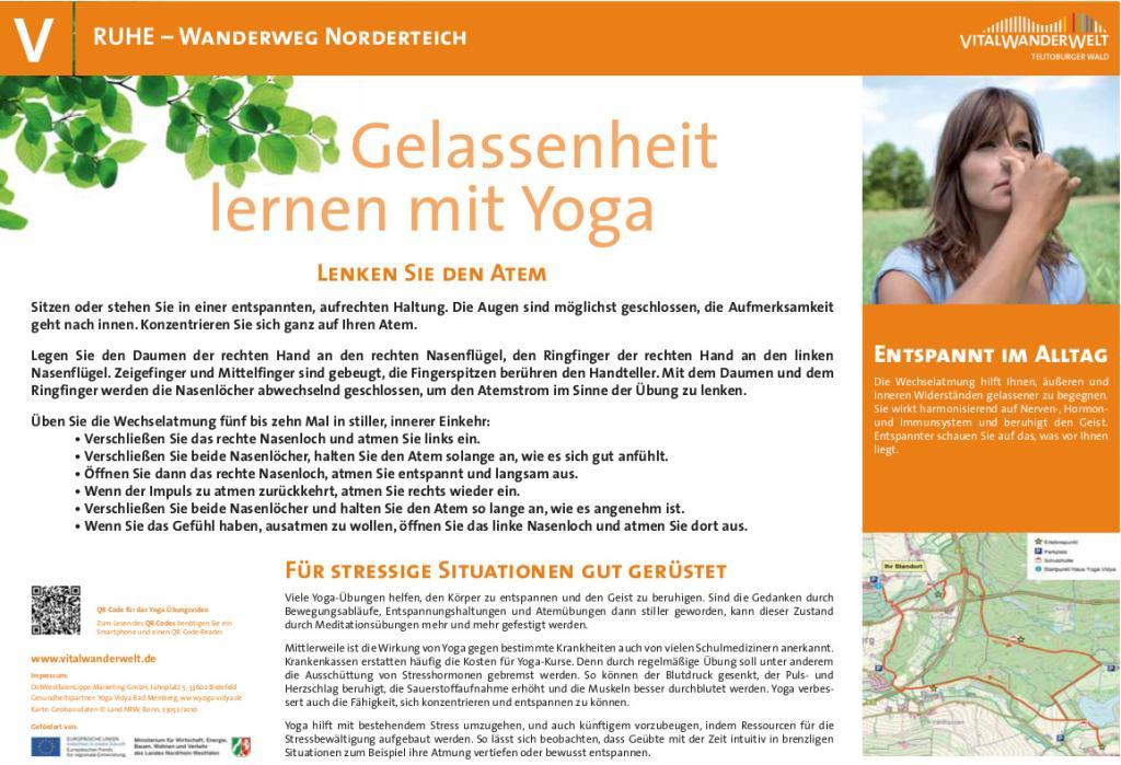 VitalWanderWelt Wanderweg Norderteich - Gelassenheit lernen mit Yoga