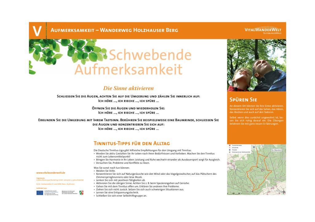VitalWanderWelt - Wanderung Holzhauser Berg - Schwebende Aufmerksamkeit