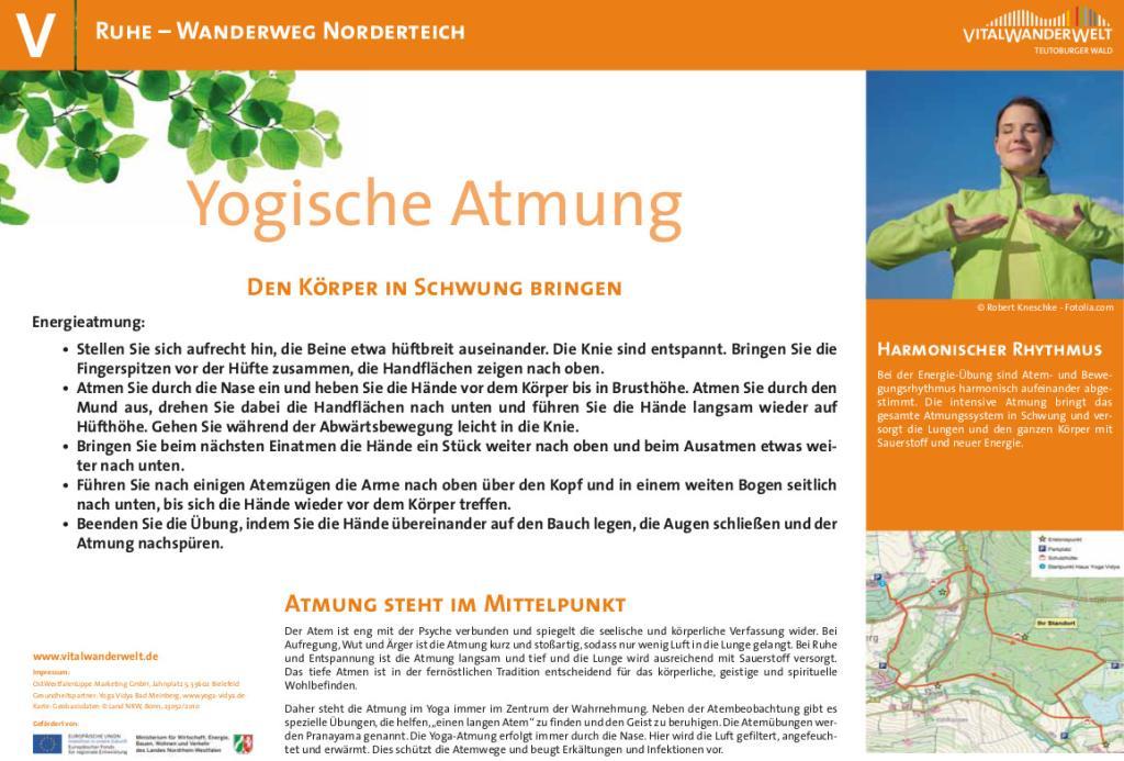 VitalWanderWelt Wanderweg Norderteich - Yogische Atmung