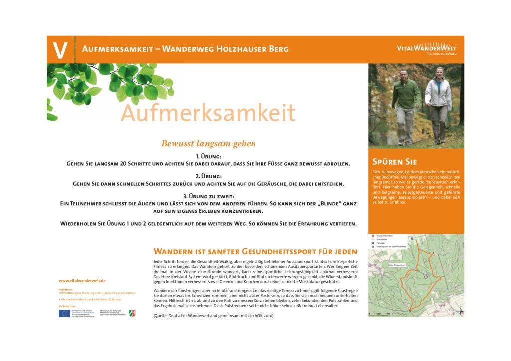 VitalWanderWelt - Wanderung Holzhauser Berg - Aufmerksamkeit