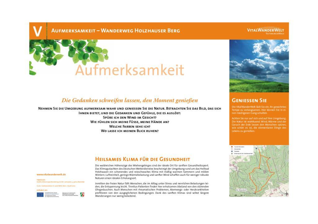 VitalWanderWelt - Wanderung Holzhauser Berg - Aufmerksamkeit 2