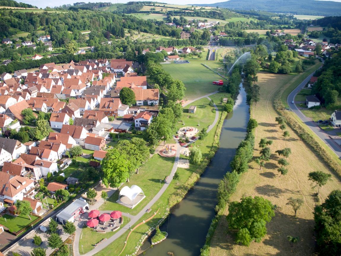 Luftaufnahme Emmerauenpark