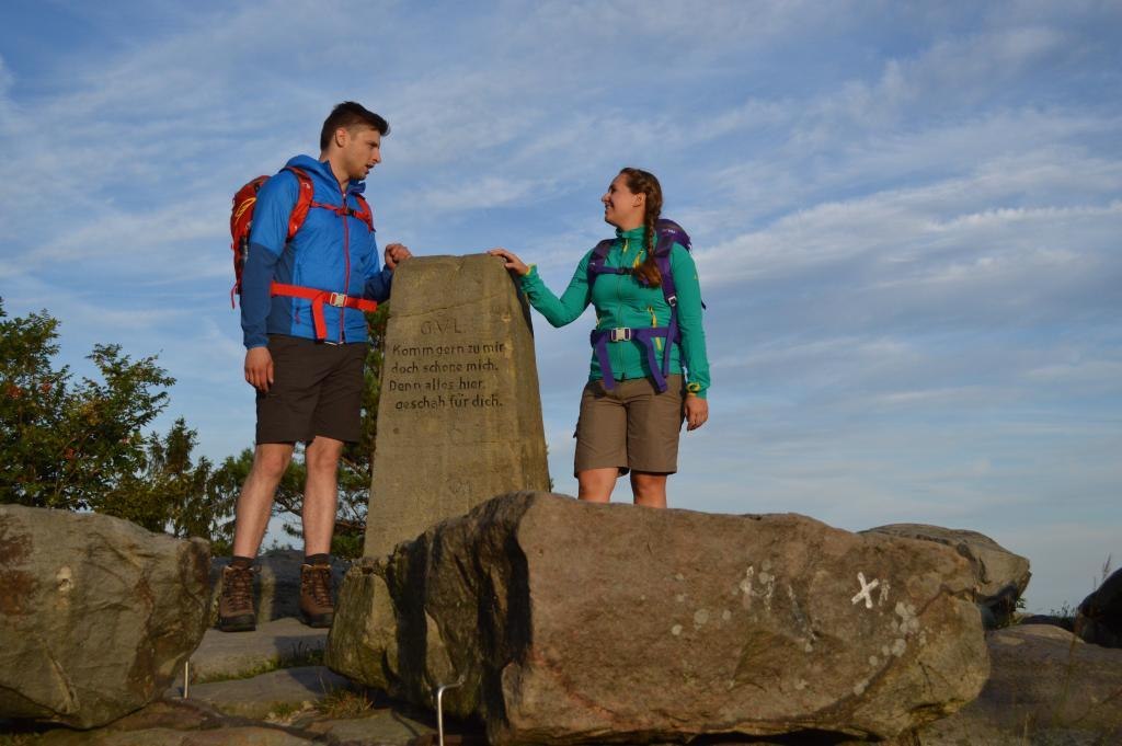 Gipfelstein an der Lippischen Velmerstot