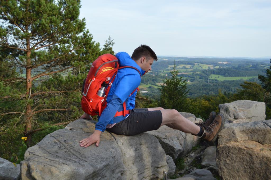 Ausblick vom Felsen Richtung Steinheim