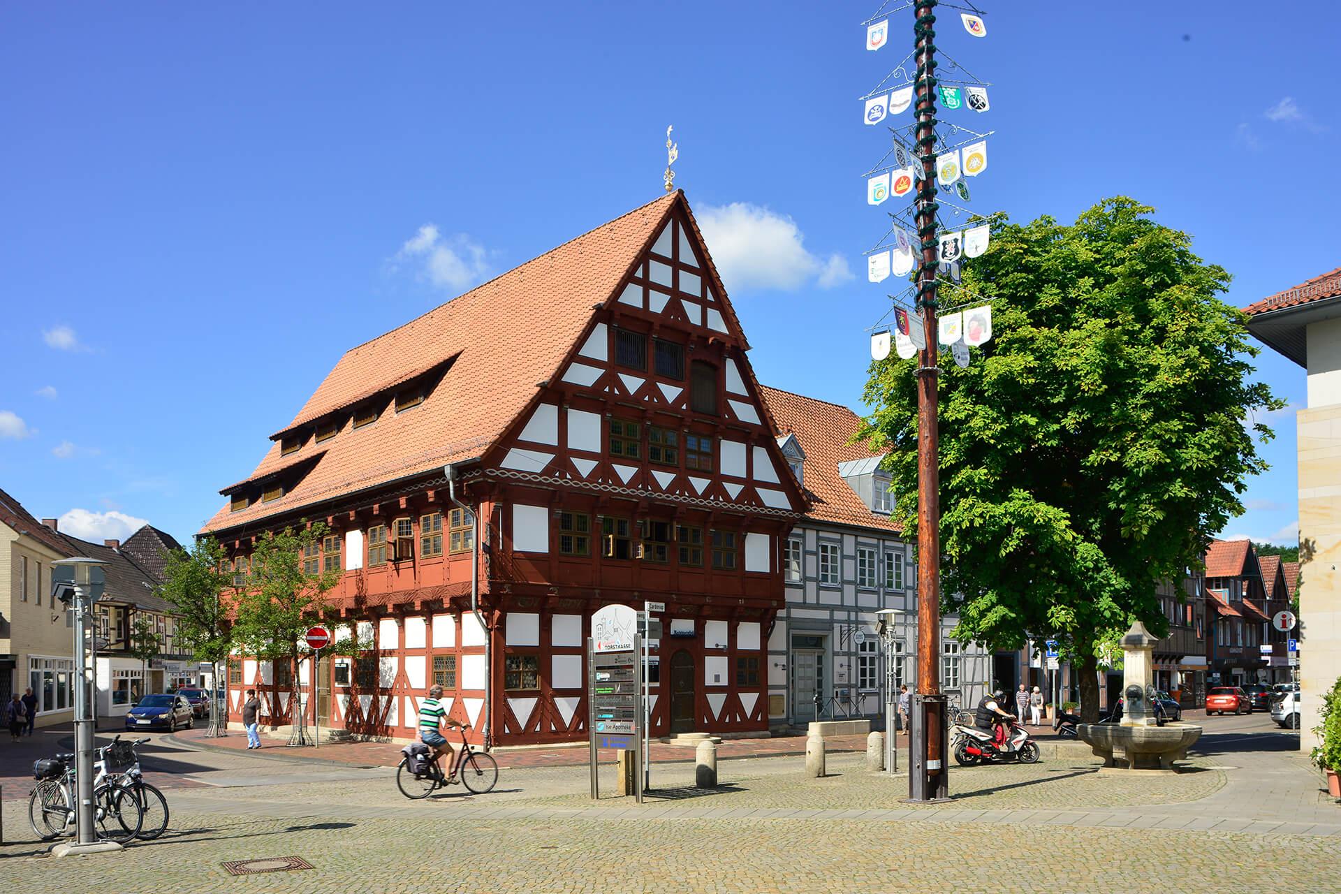 Altes Gifhorner Rathaus in der Innenstadt