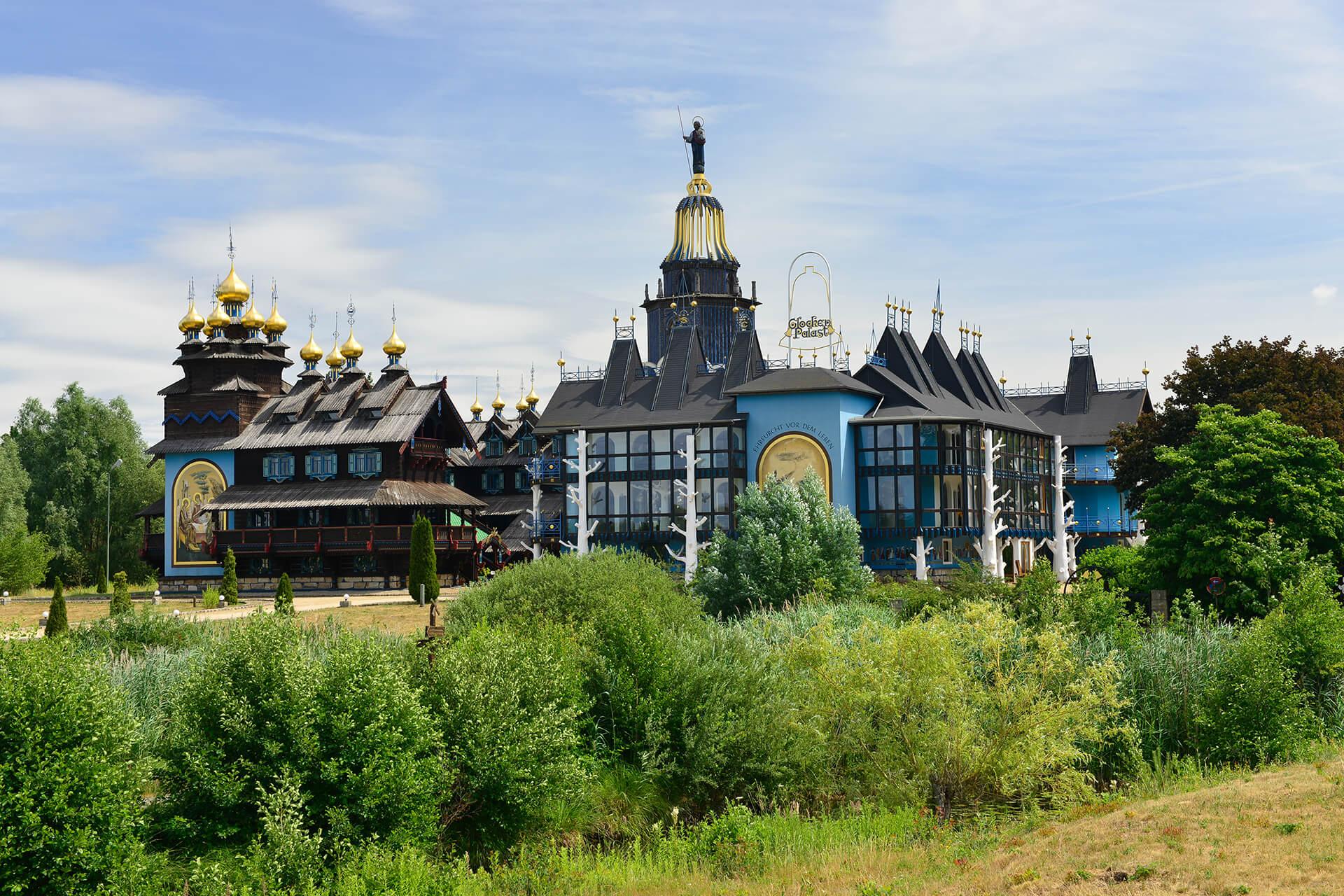 Blick auf den Glocken-Palast