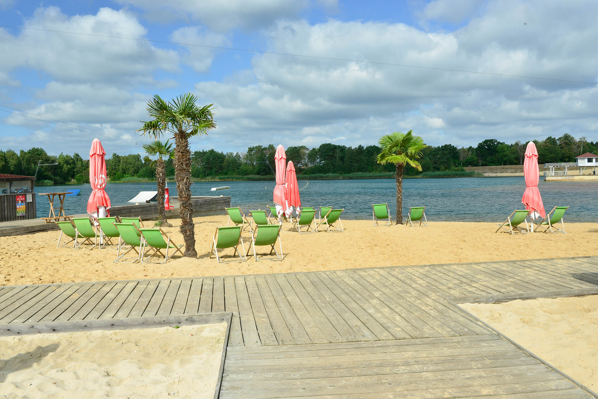 Strand am Bernsteinsee am Cable Resort