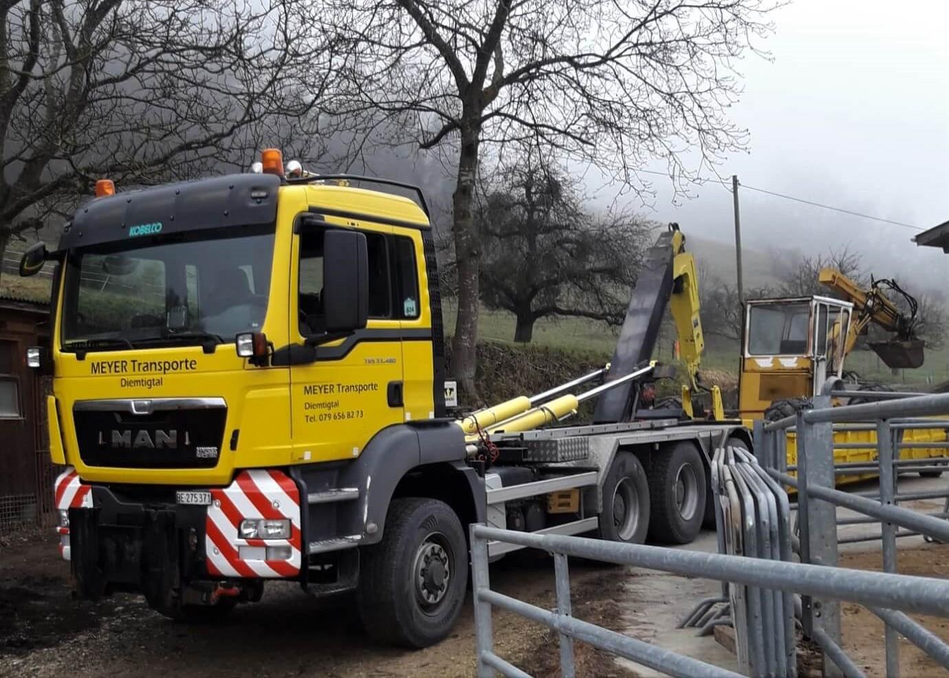 MAN-Lastwagen-Transport