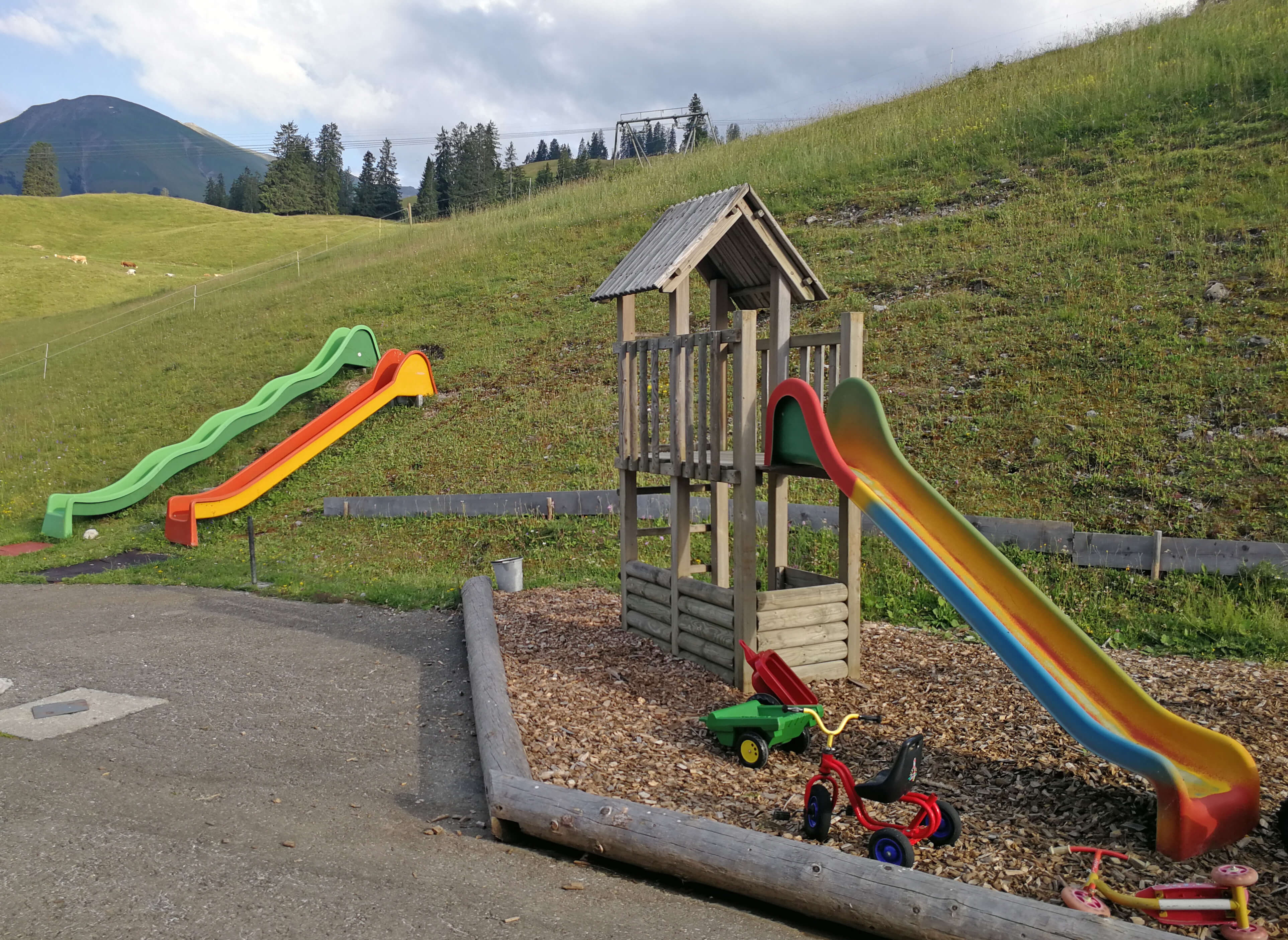 Kletterturm und Rutschbahn am Wiriehorn