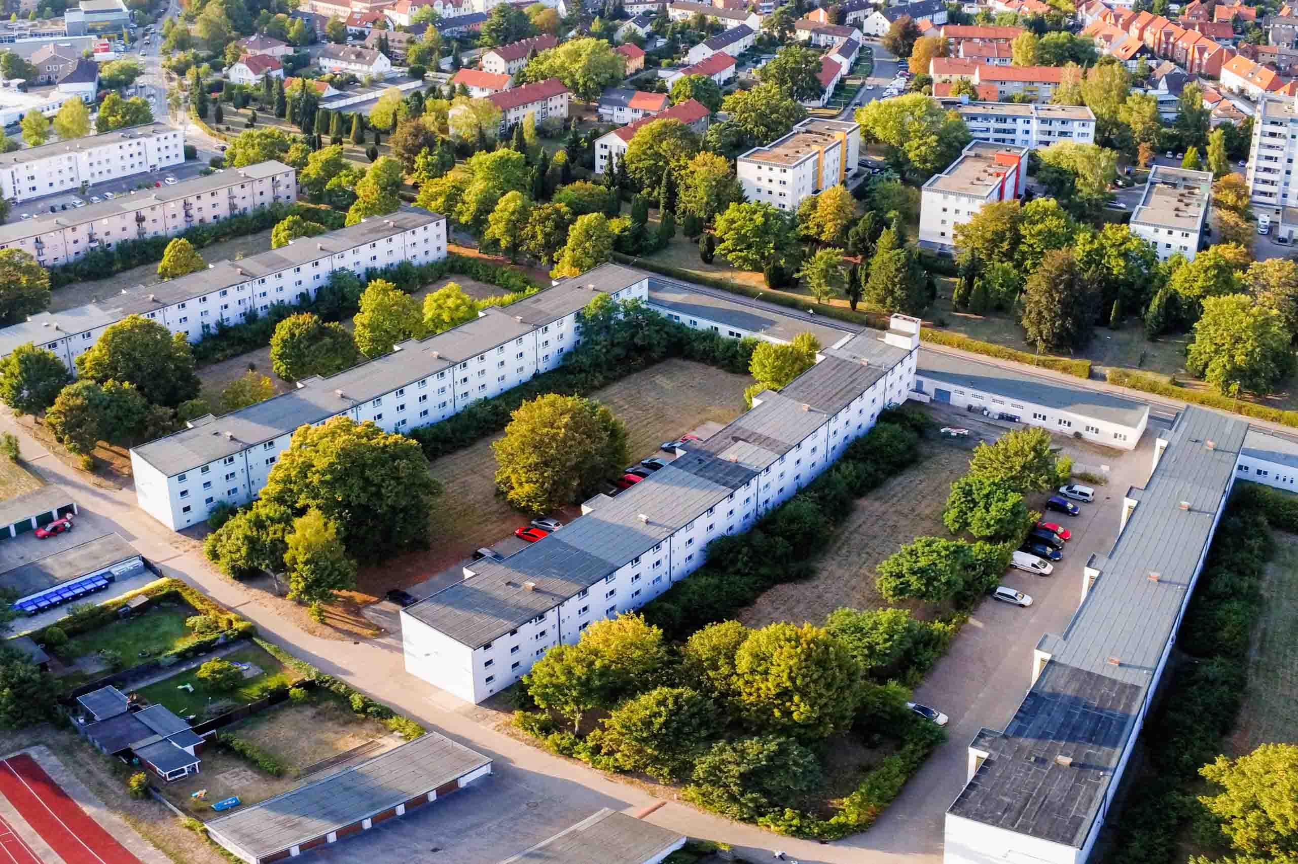 Siedlung Georgsgarten, Luftbild