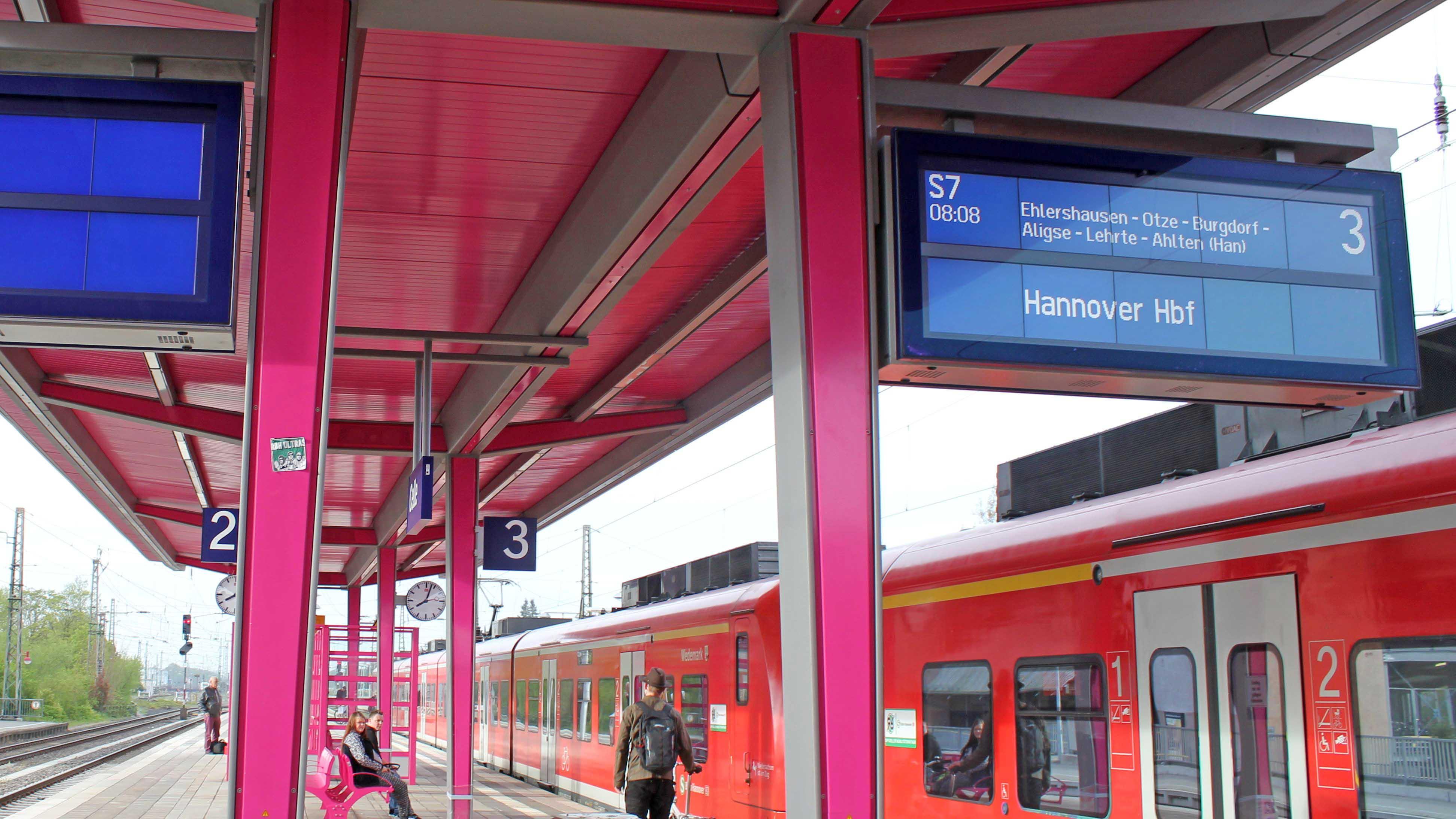Celler Bahnhof, Bahngleis