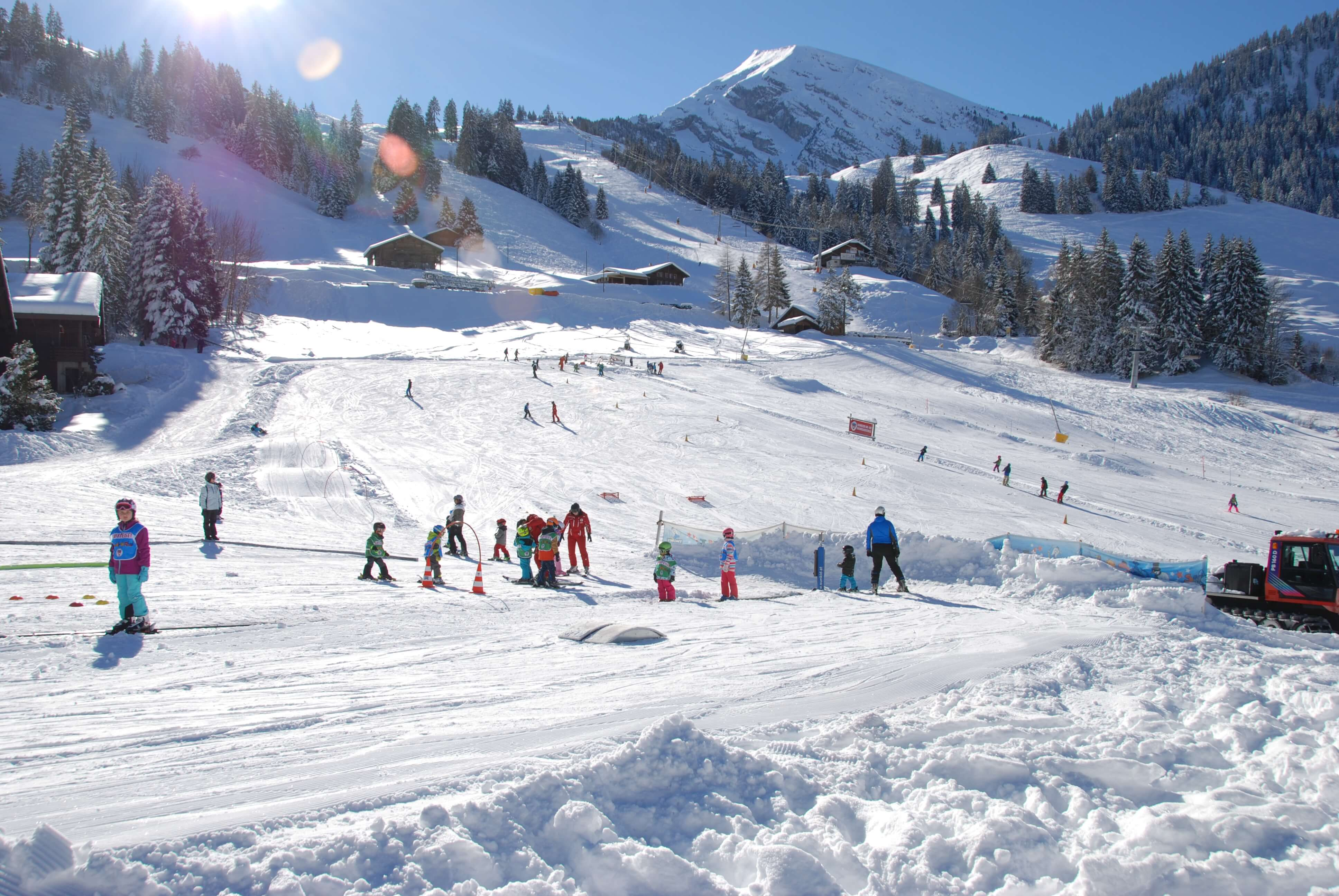 Skischulgelände für Anfänger am Wiriehorn