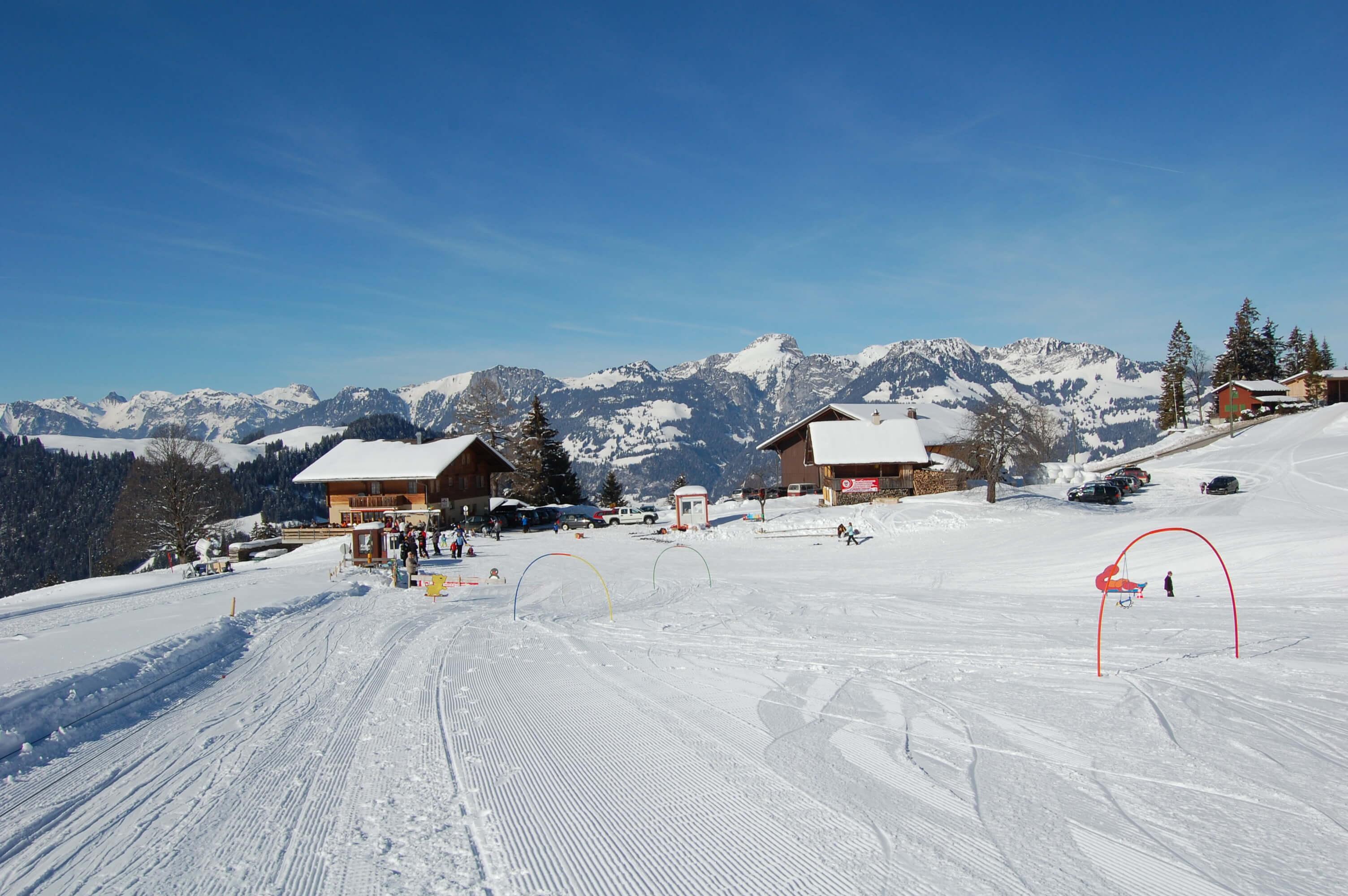 Das Skischulgelände auf Springenboden