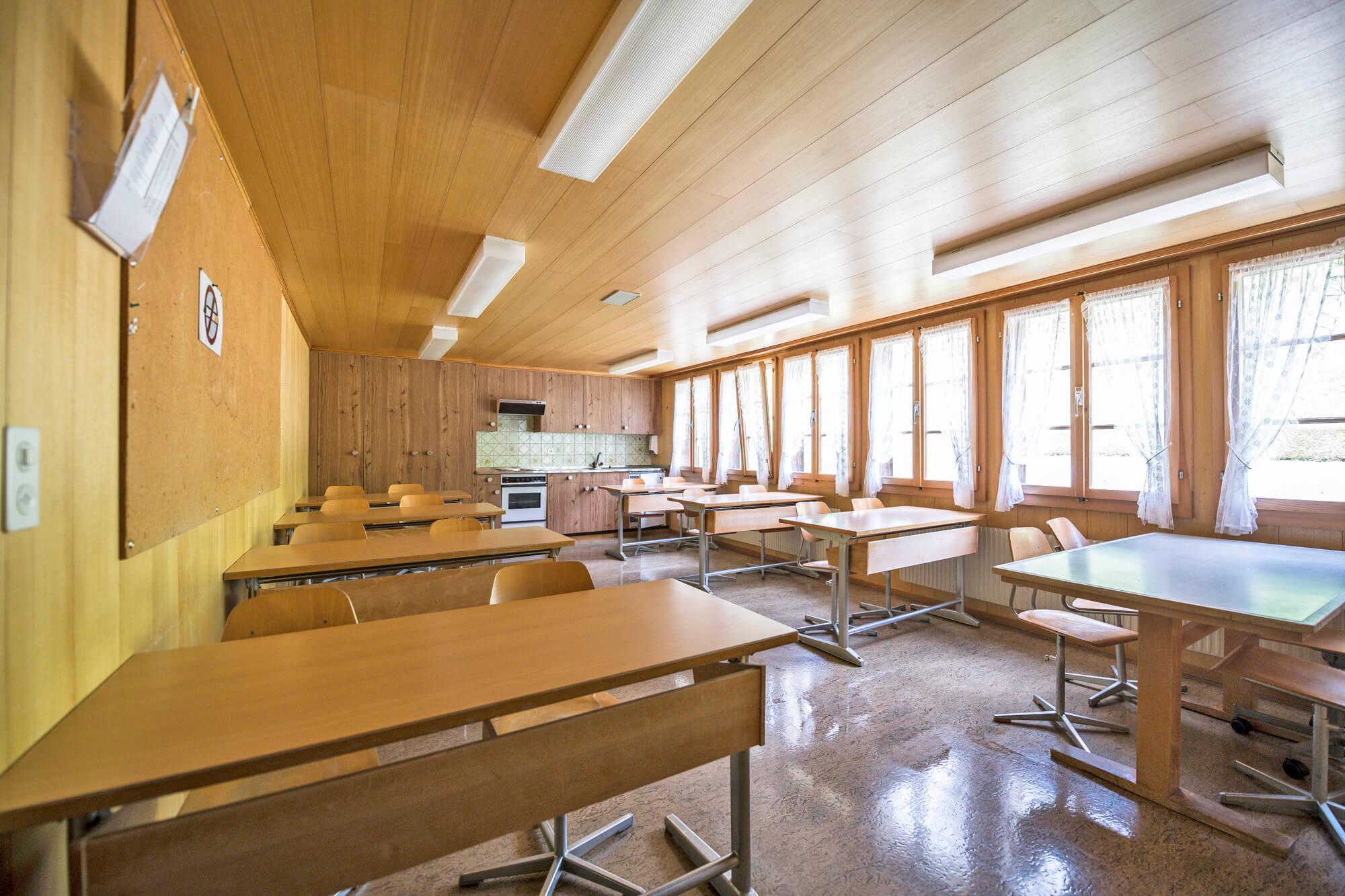 Grosszügige und helle Räume für verschiedene Anlässe