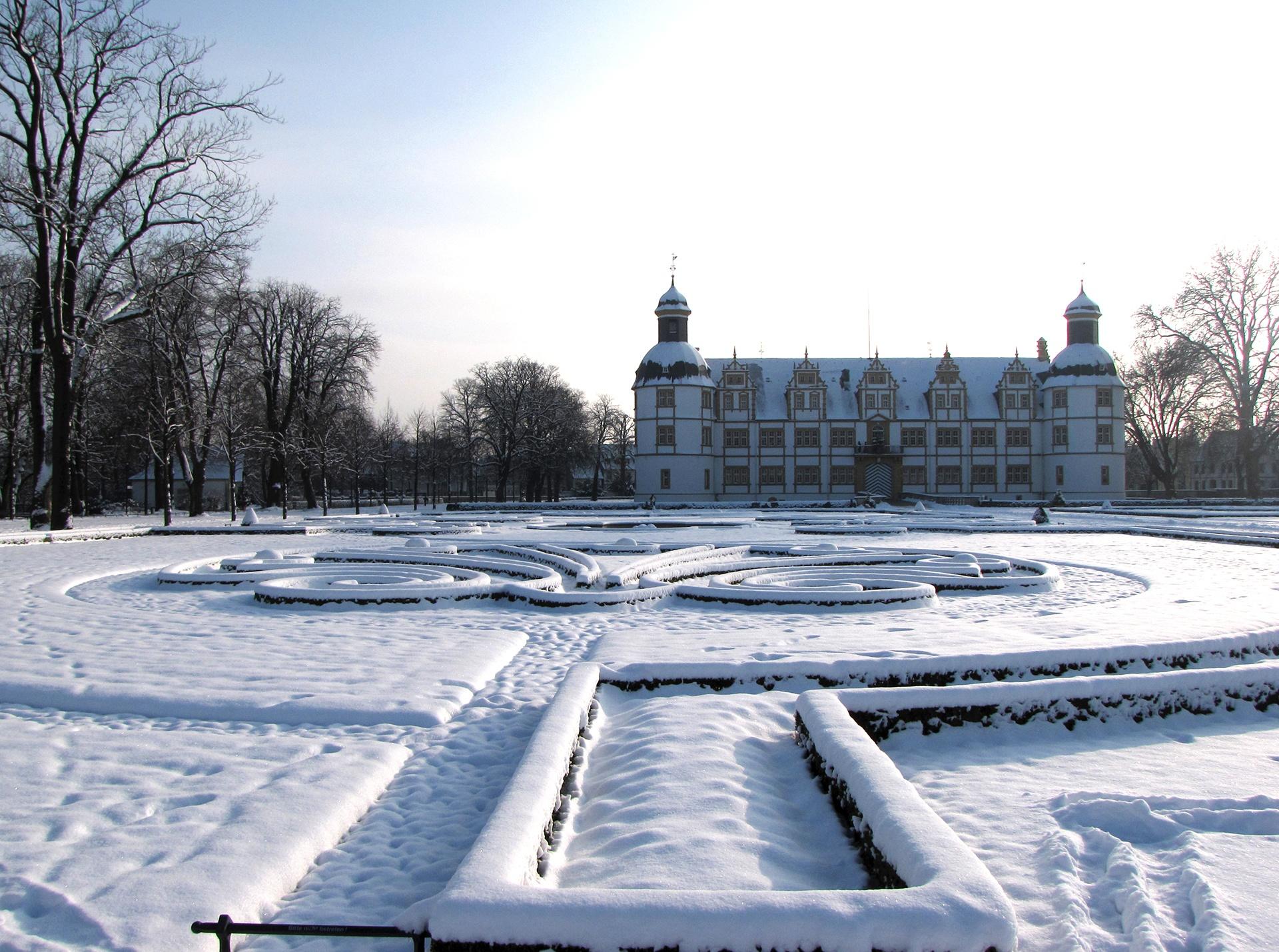 Neuhäuser Schlosspark im Schnee