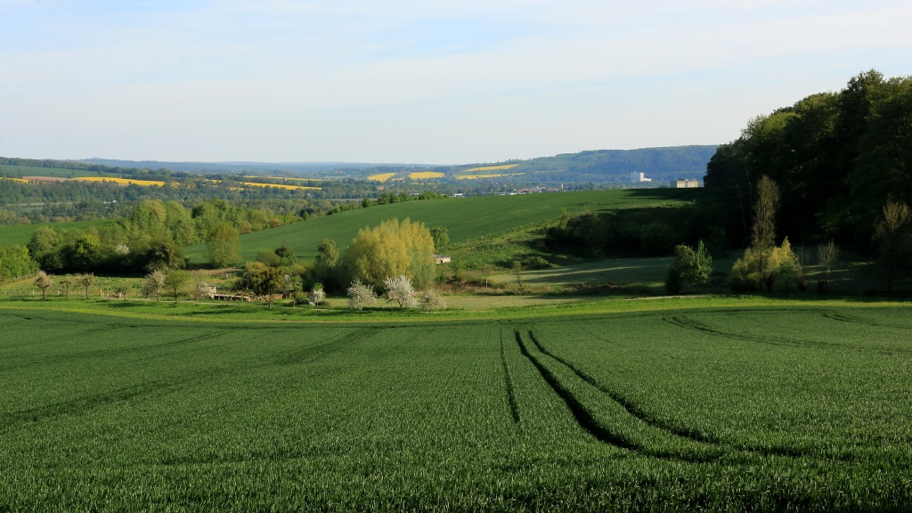 Blick vom Bierenberg ins Wesertal