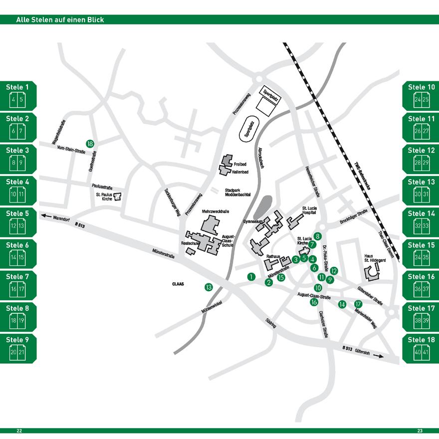 Harsewinkeler Stelen Karte mit Standorten