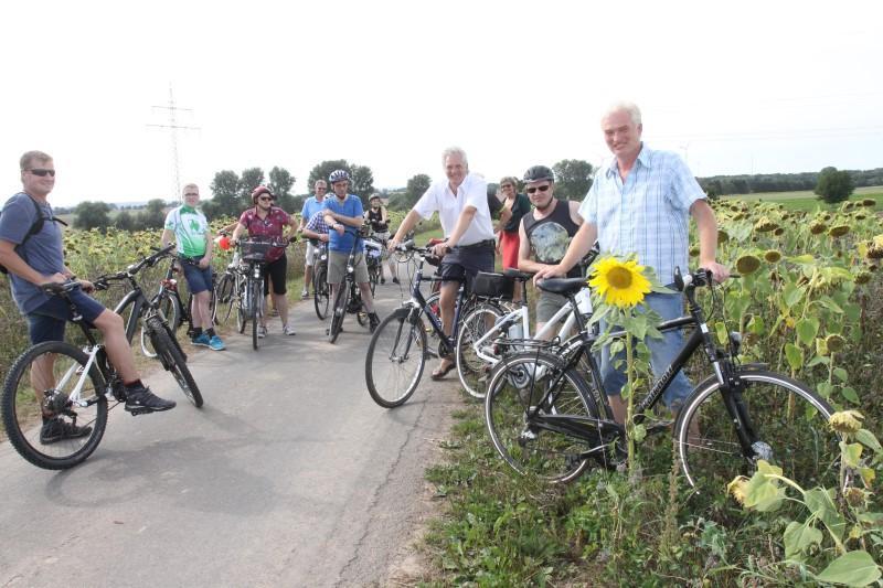 Radfahrer auf der Biotour