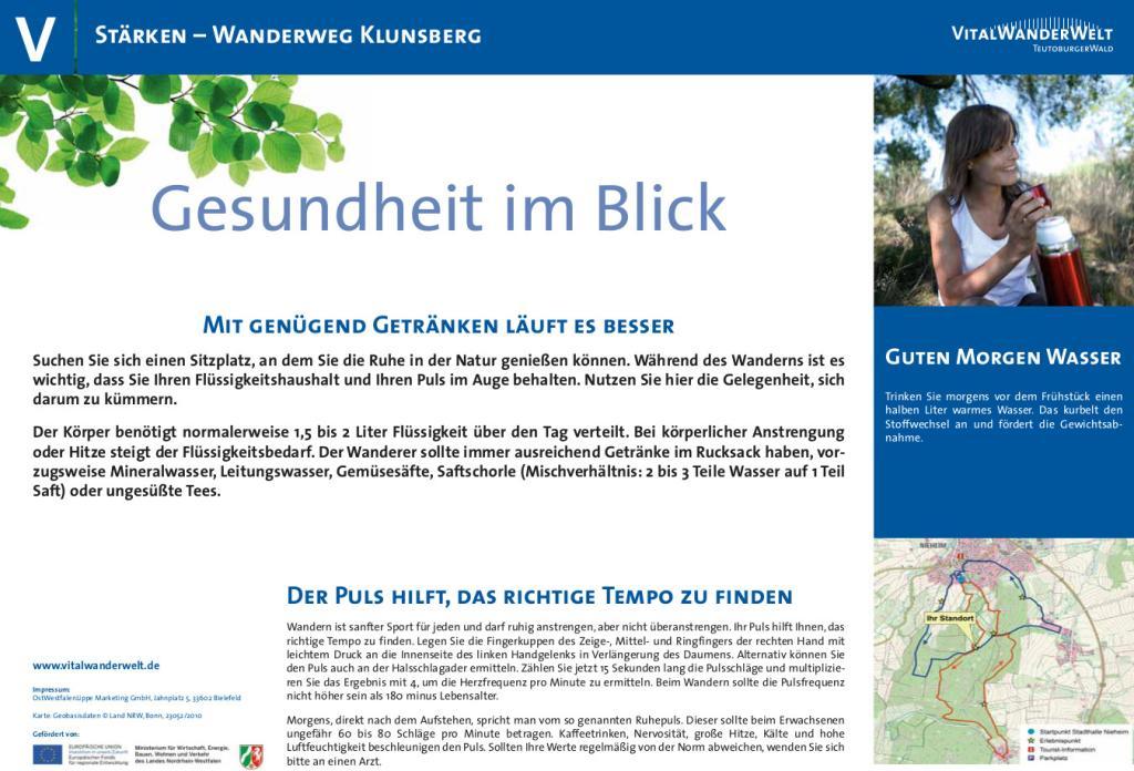 VitalWanderWelt Wanderweg Klunsberg - Gesundheit im Blick