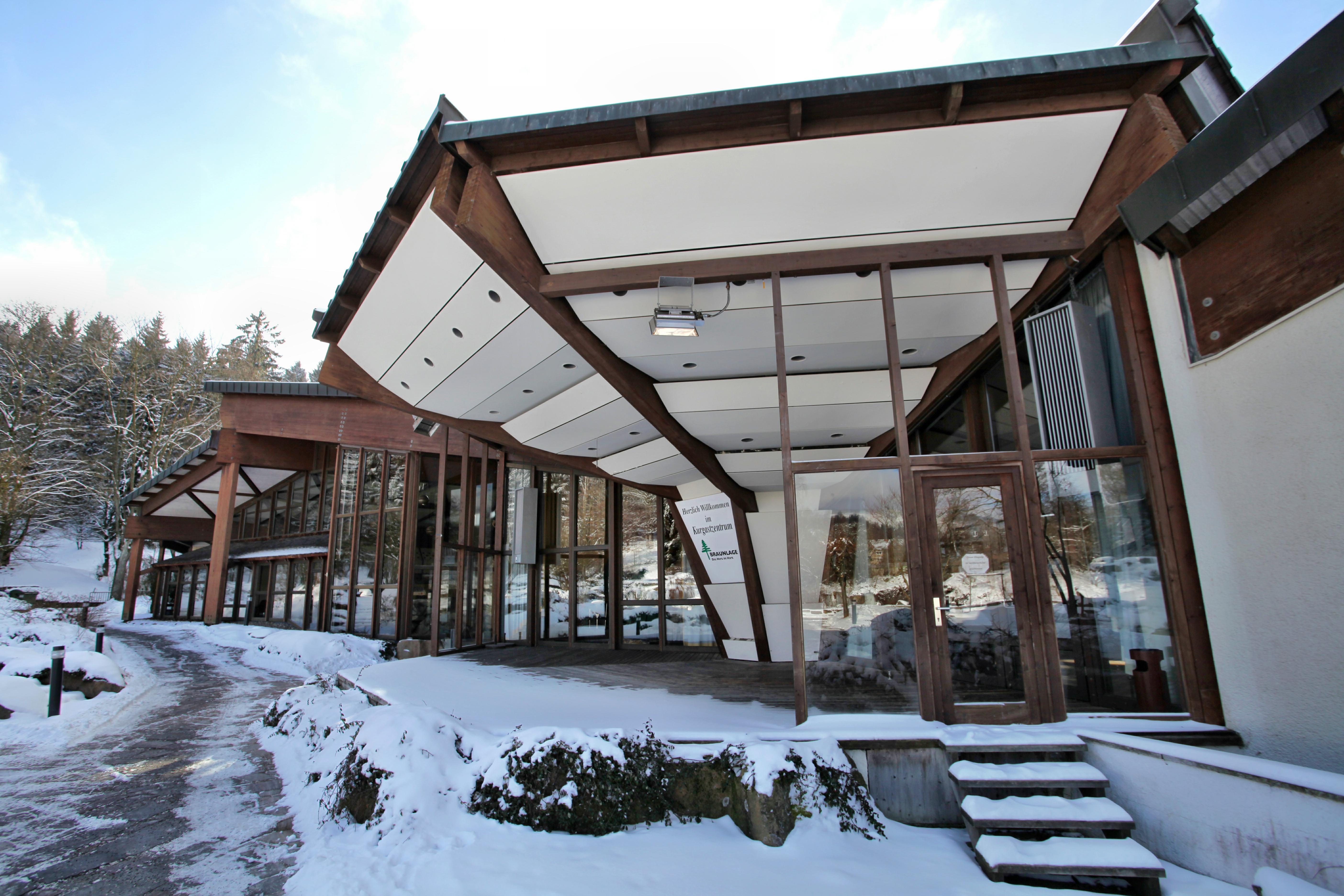 Kurgastzentrum im Winter