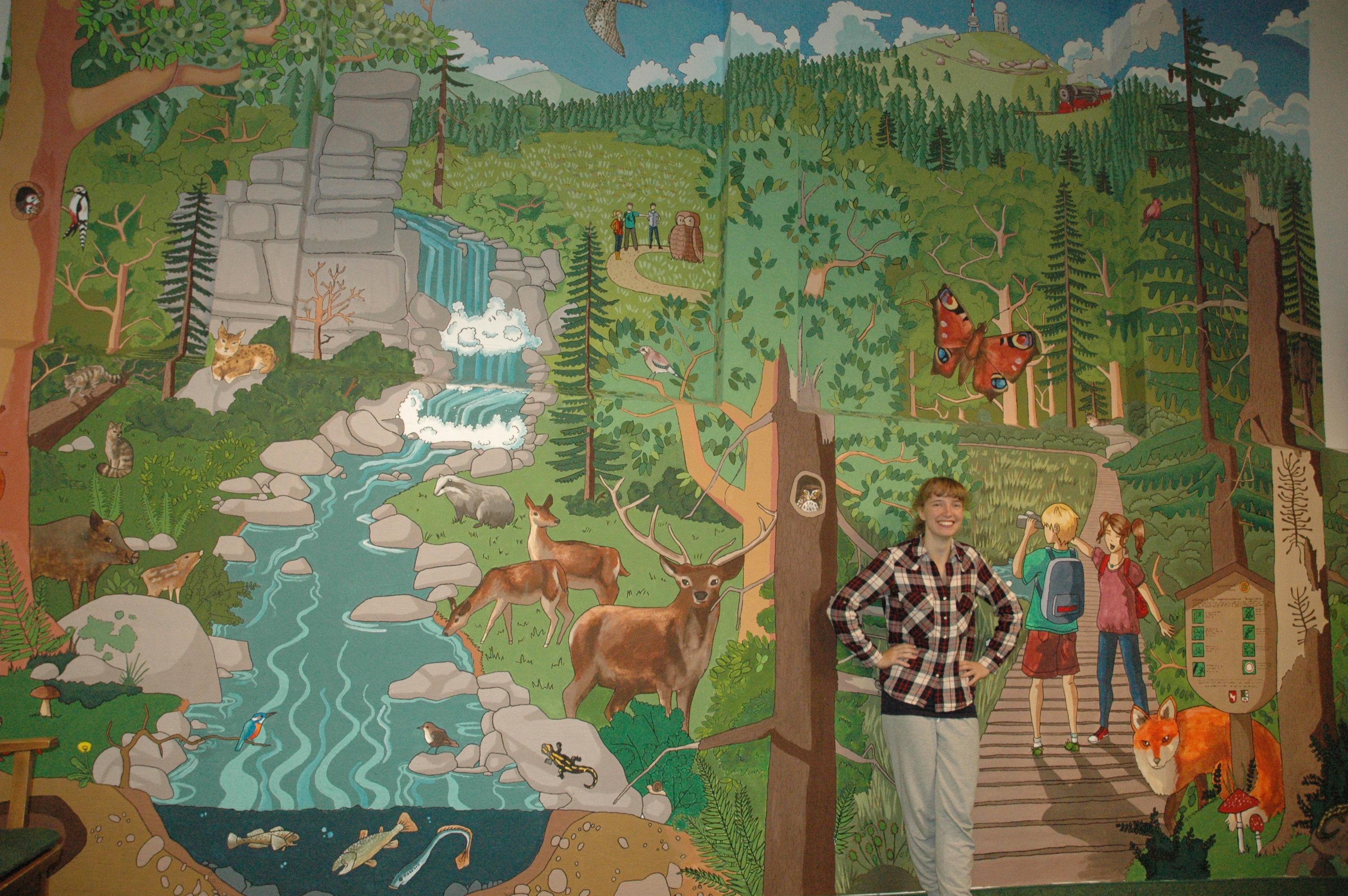 Wimmelbild im Nationalparkhaus
