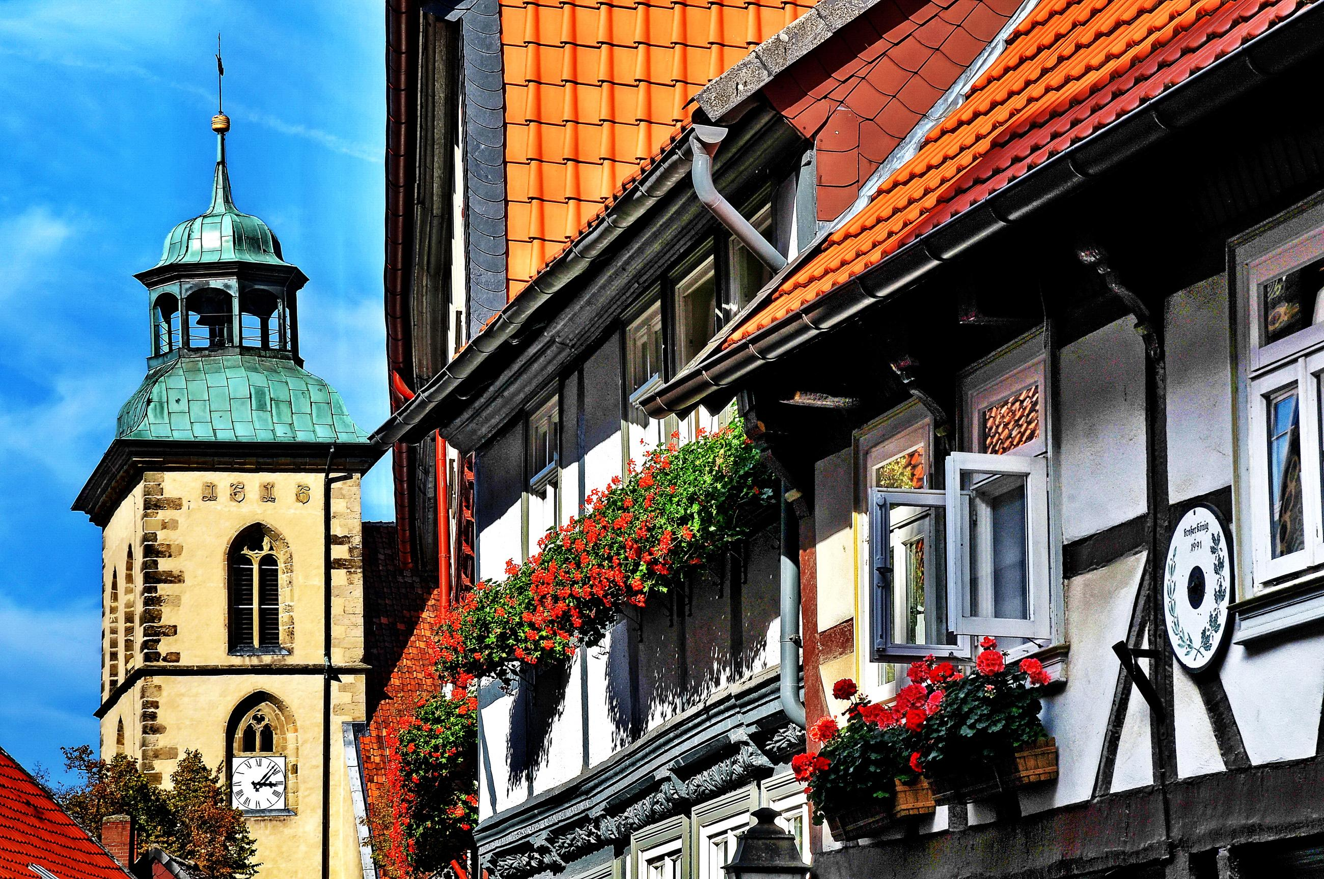 Fachwerk und Marienkirche Hornburg