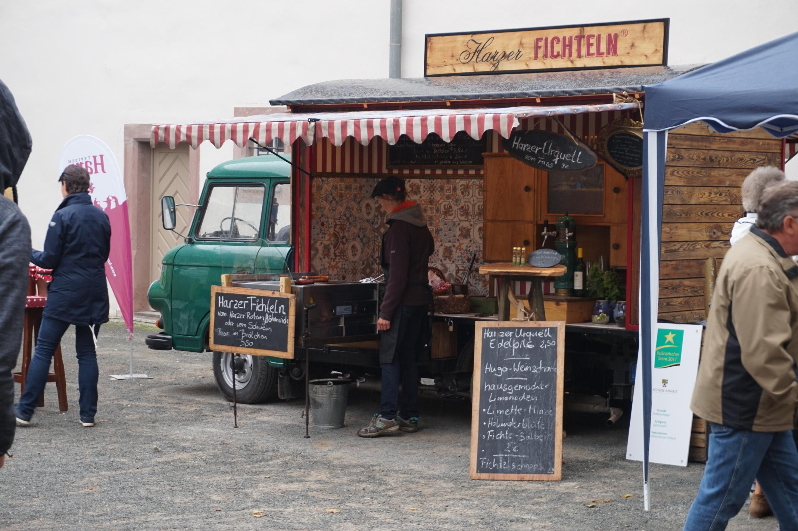 Harzer Fichteln auf dem Typisch Harz-Markt Harzgerode