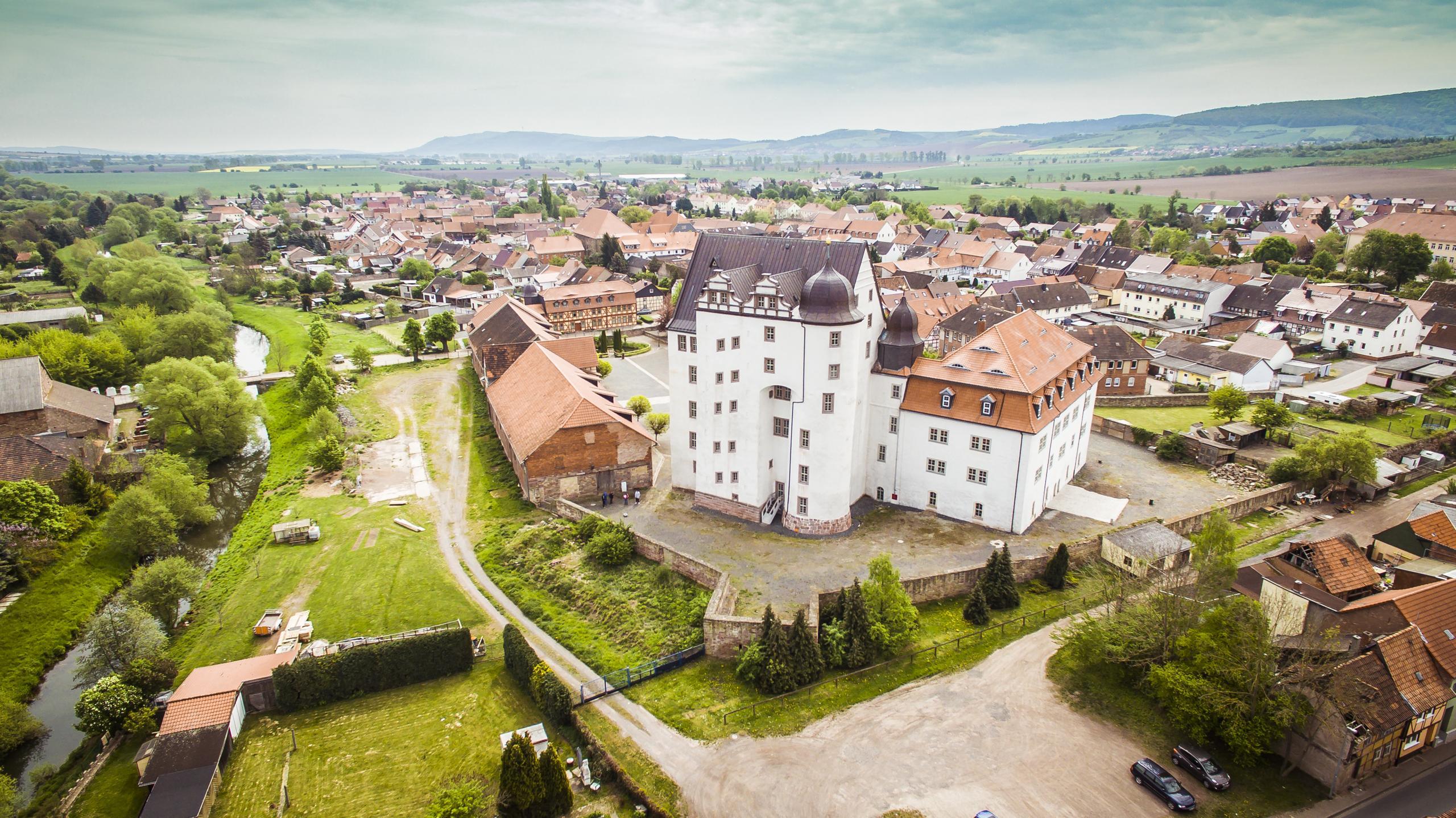 Schloss Heringen Schlossareal Rückseite