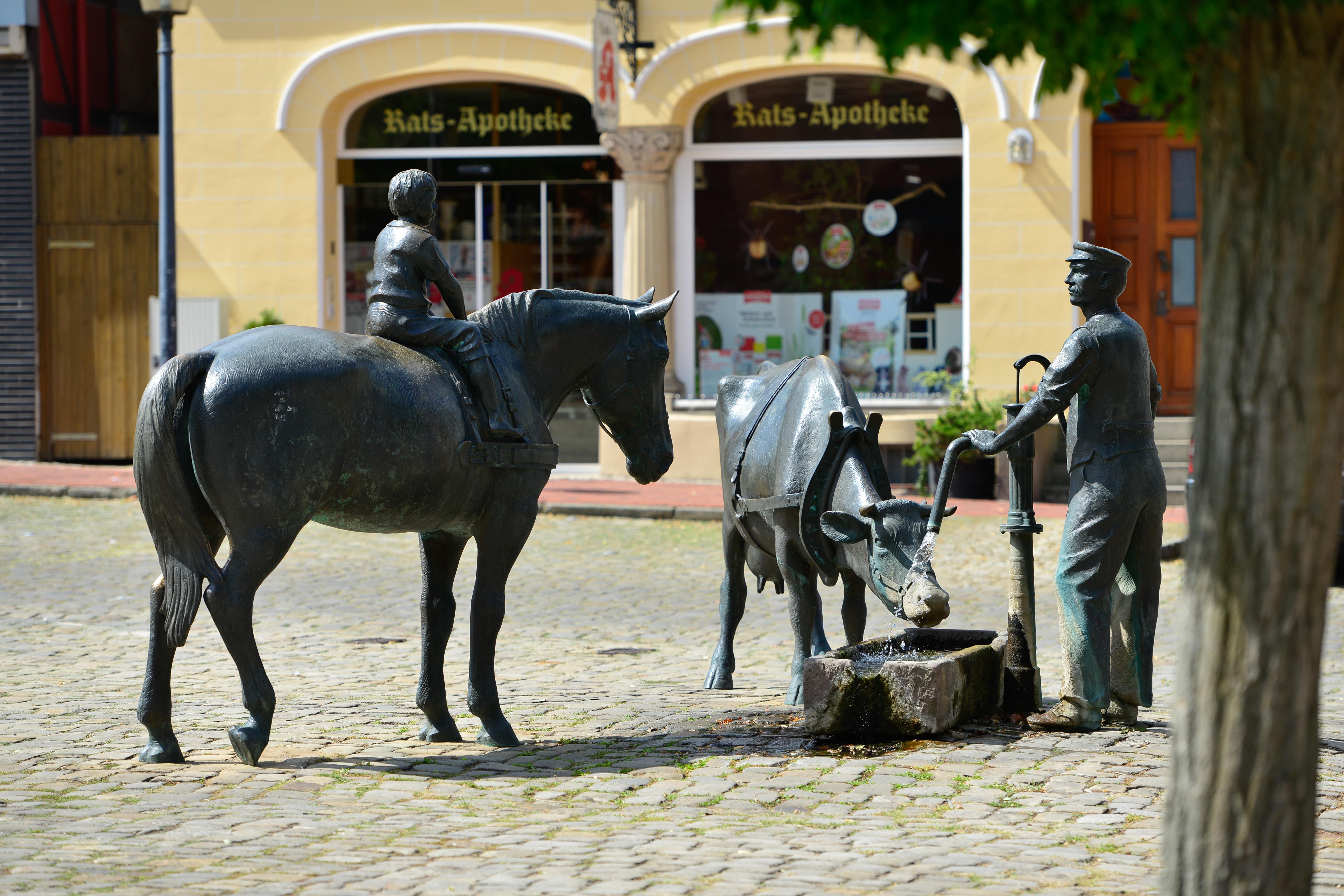 Wittinger Marktplatz mit den Ackerbürgern