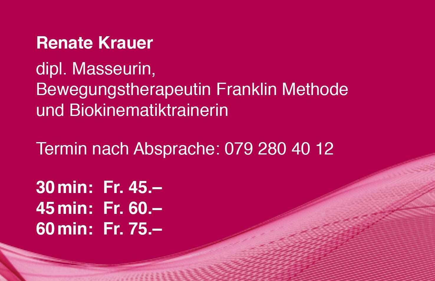 Preisliste Renate Krauer